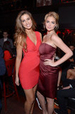Kate Upton chatted with Katherine Webb at the launch party.