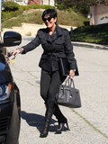 Kris Jenner hopped in her car in LA.