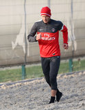 David Beckham Sweats and Smiles at His First Training Session in Paris