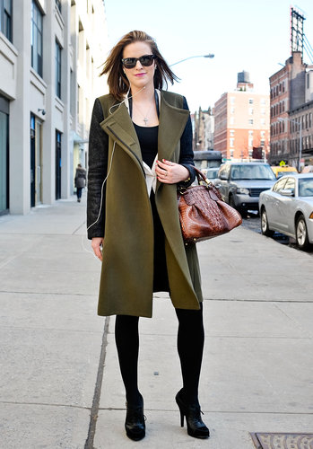 Olive and black look gorgeous together — here's the proof.