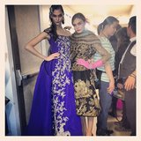 Karlie Kloss and Cara Delevingne posed together backstage at Oscar de la Renta's Fall '13 show. Source: Instagram user caradelevingne