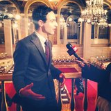 Zac Posen looked dapper while doing an interview with CNN. Source: Instagram user zac_posen