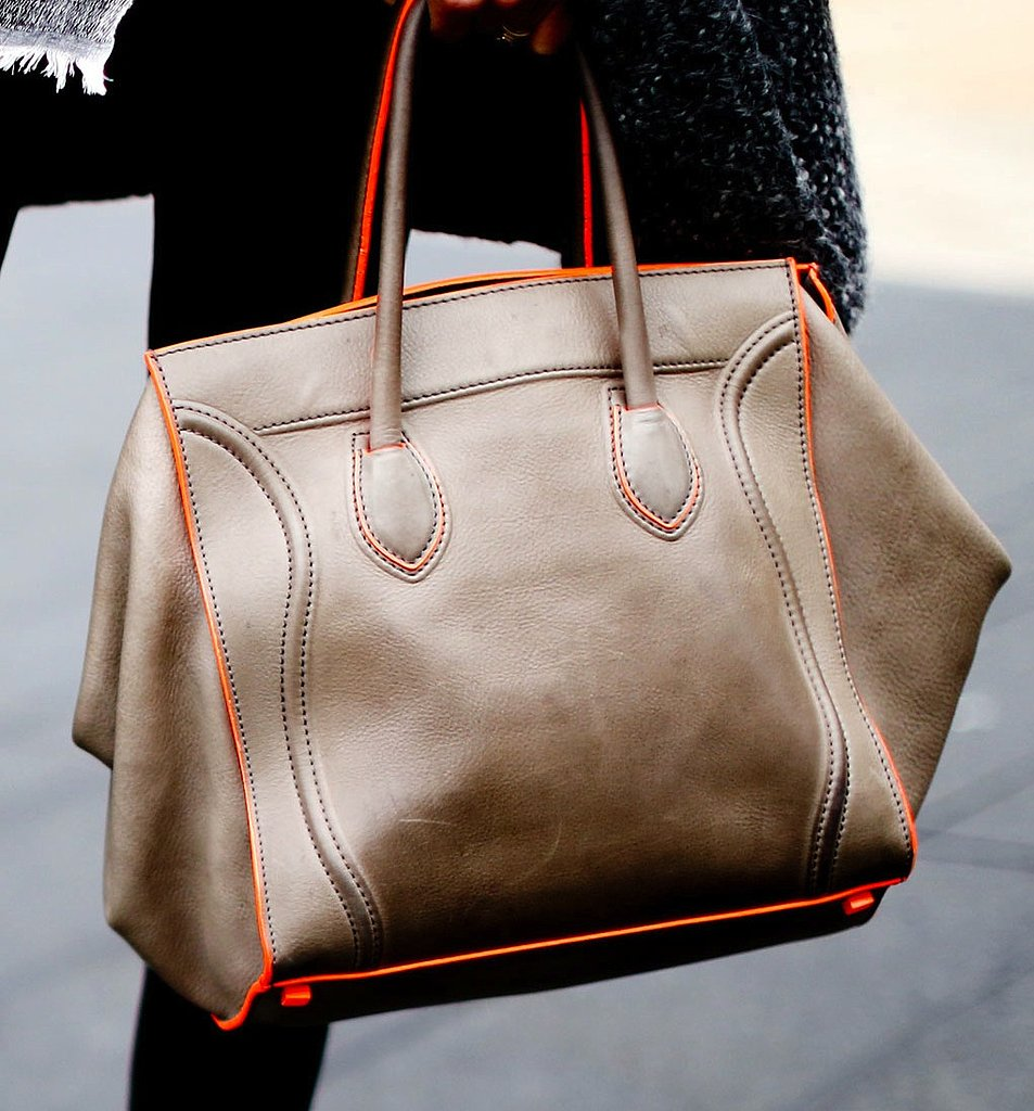 Neon orange trim added a modern tilt to this Céline bag.
