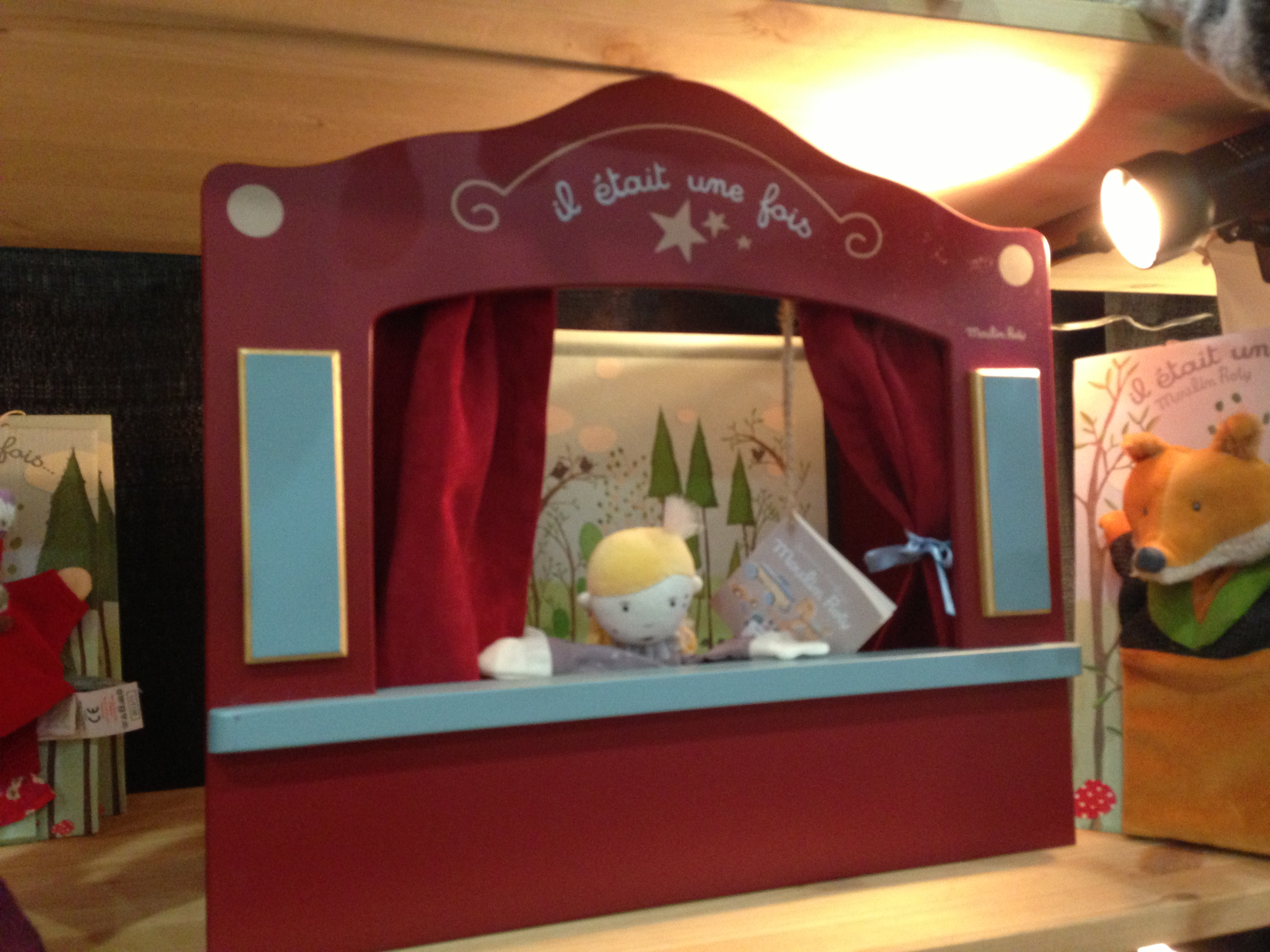 An old-fashioned finger-puppet theater from Moulin Roty!