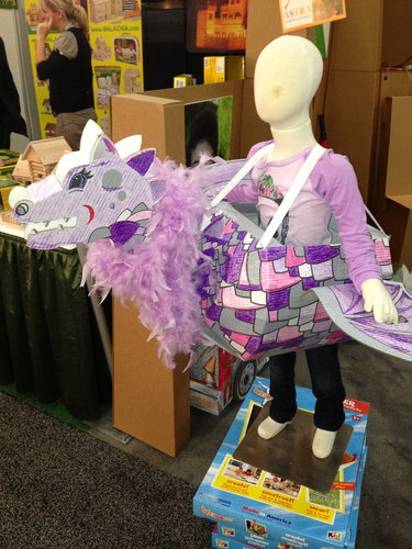 Kid Constructions's Wearables would make fun costumes for Halloween (or any time of year). Your kids can color and customize them however they wish!