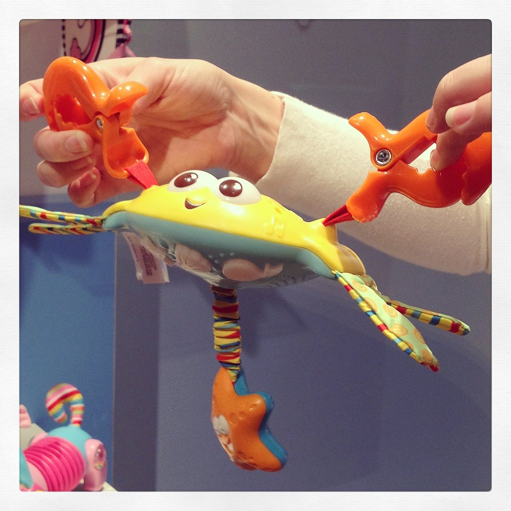 How cute is Tiny Love's little crab stroller toy?