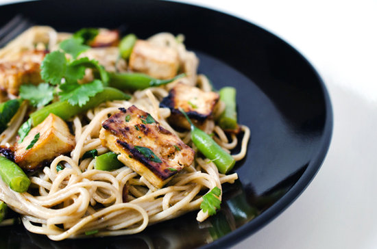 Skillet Soba, Baked Tofu and Green Bean Salad With Spicy Dressing