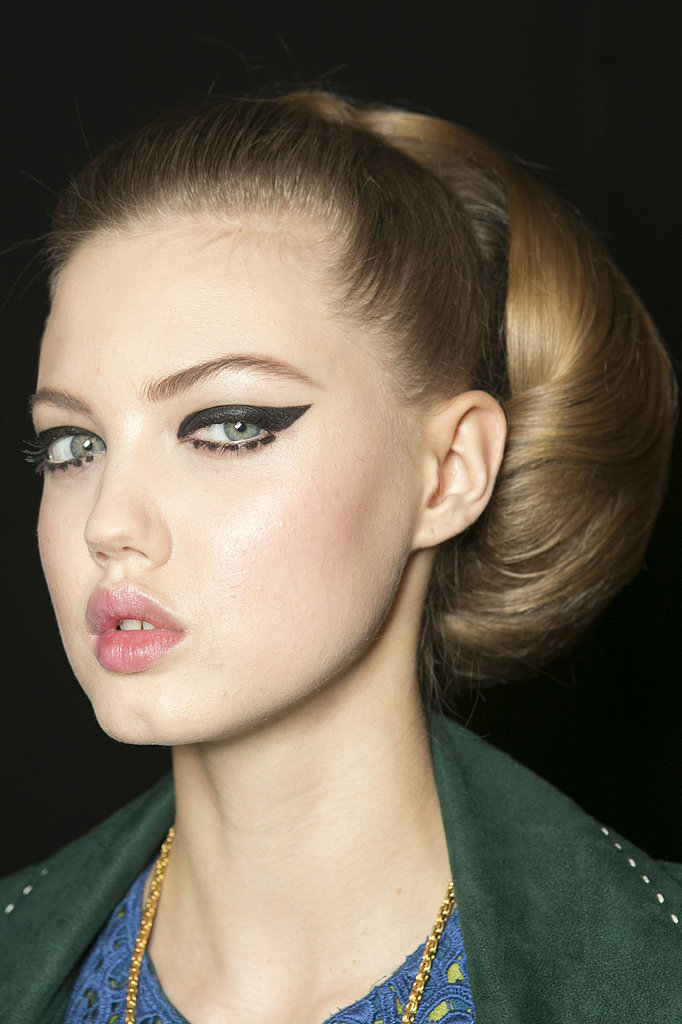 The '60s are back this Fall, according to Anna Sui, so overdraw your cat eye and try dotting your lower lash line for a mod effect.
