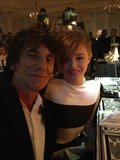 Unlikely duo Chloë Moretz and Ronnie Wood of The Rolling Stones hung out at the Elle Style Awards. Source: Twitter user RonaldDavidWood
