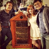 "Scott Porter showed off ""new pets"" for Hart of Dixie couple Wanda and Tom. Source: Instagram user skittishkid"