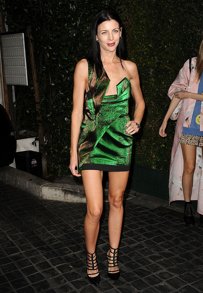 Liberty Ross wore a revealing green dress.