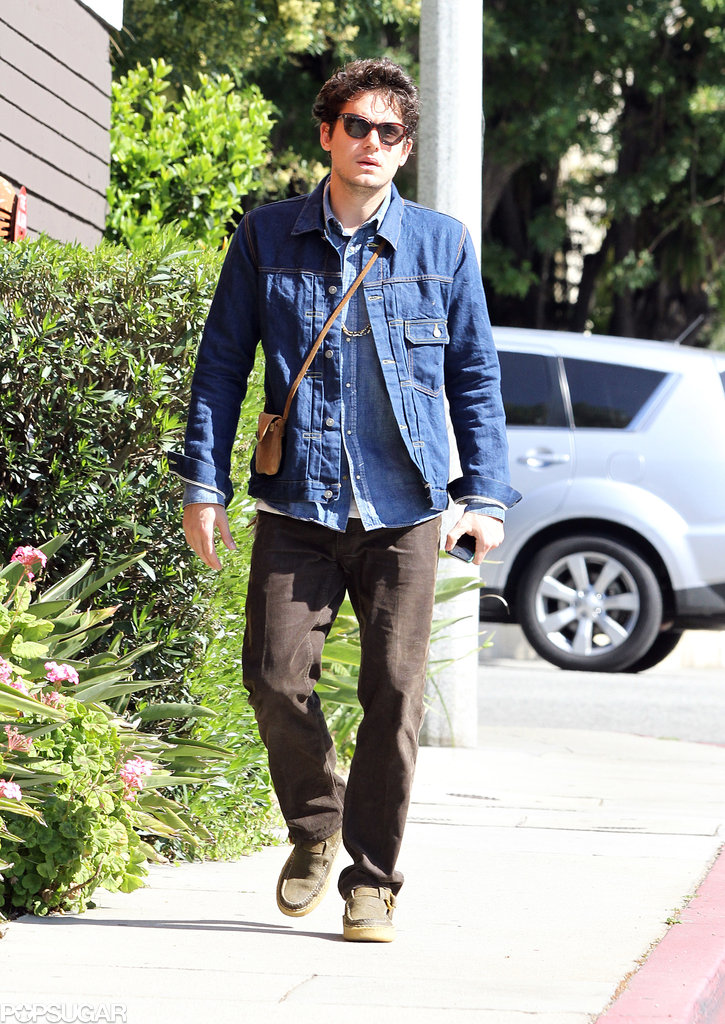 John Mayer Takes a Solo Stroll on a Valentine's Day in Beverly Hills
