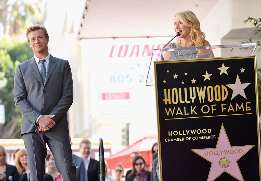 Naomi Watts Supports Aussie Pal Simon Baker on the Walk of Fame