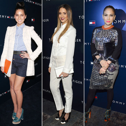 Jessica Alba and Jennifer Lopez at Tommy Hilfiger Party