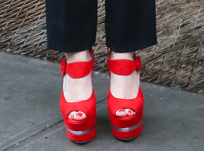 Bright red platforms have personality to spare.