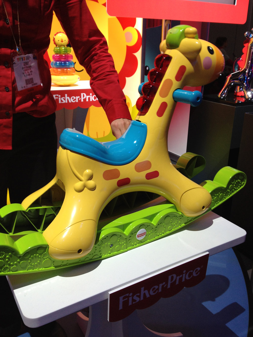 Fisher-Price's iconic giraffe gets the rocker treatment with this cute toy.
