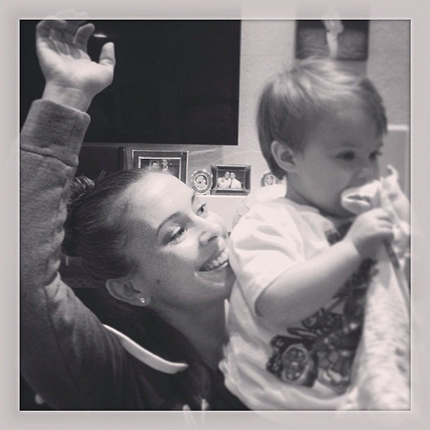 Alyssa Milano spent Valentine's Day dancing with lil Milo for charity. Source: Instagram user milano_alyssa