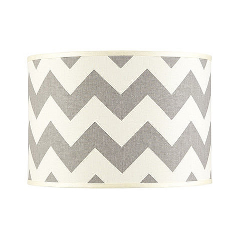 If you haven't embraced the chevron trend yet, this sleek limited-edition lampshade ($39-$69) might just convince you.