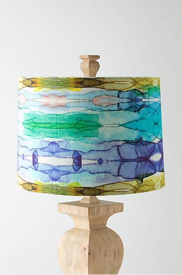 We can't help but think of a watercolor painting when looking at this lampshade ($98-$118) aptly named Myriad Horizons.