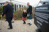 Kilted guests enjoyed themselves ahead of a Gretna Green wedding.