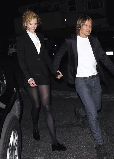 Nicole Kidman and Keith Urban went out to dinner on Valentine's Day.