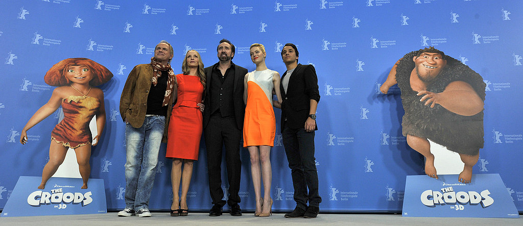 The cast of The Croods promoted the film in Berlin.