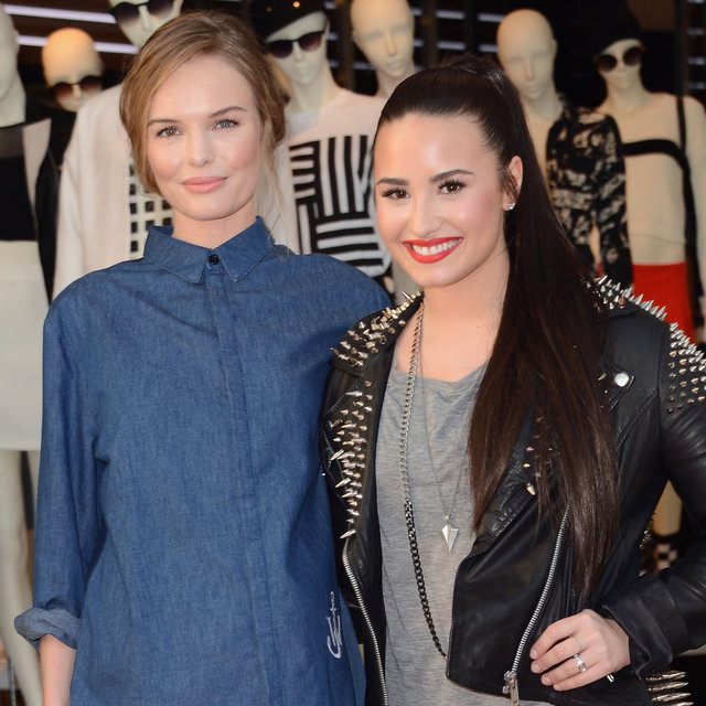 Demi Lovato and Kate Bosworth at Topshop Opening in LA