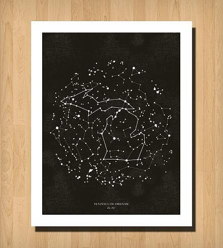Michigan Constellation Print