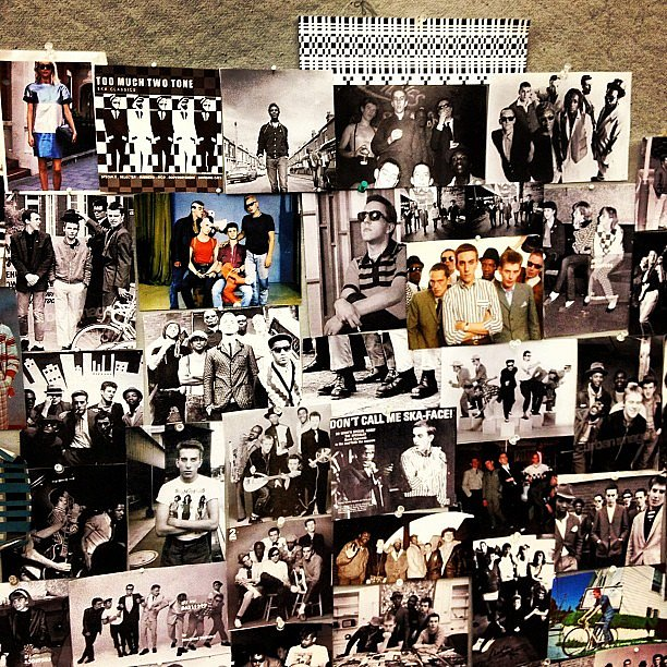 The inspiration board from Jonathan Simkhai Fall '13.