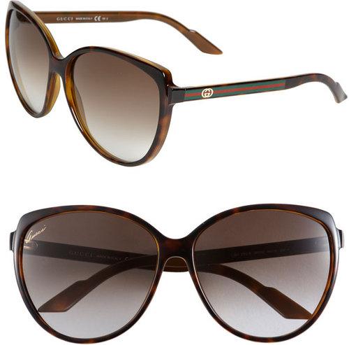 Gucci Stripe Cat's Eye Sunglasses