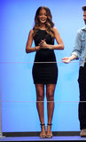 Rihanna slipped into an LBD to launch the Rihanna For River Island collection during London Fashion Week.