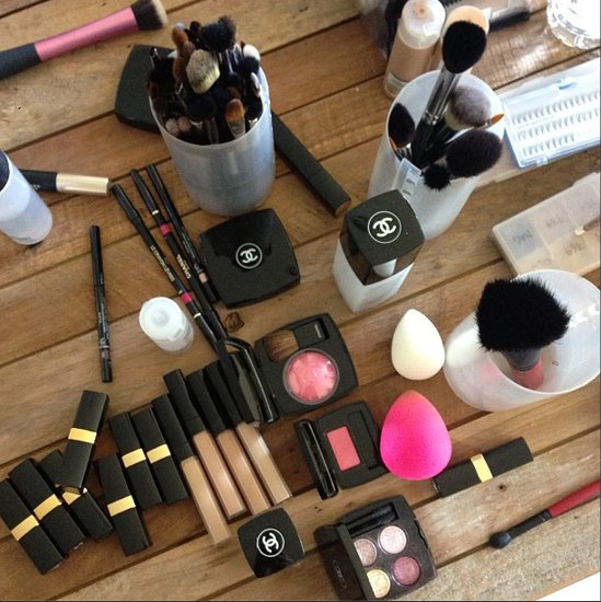 Celebrity makeup artist Beau Nelson got prepped for the Oscars. Source: Instagram user beau_nelson