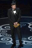 Ben Affleck presented an award at the Oscars.
