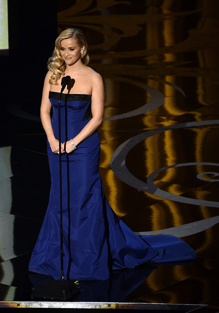 Reese Witherspoon presented at the 2013 Oscars.