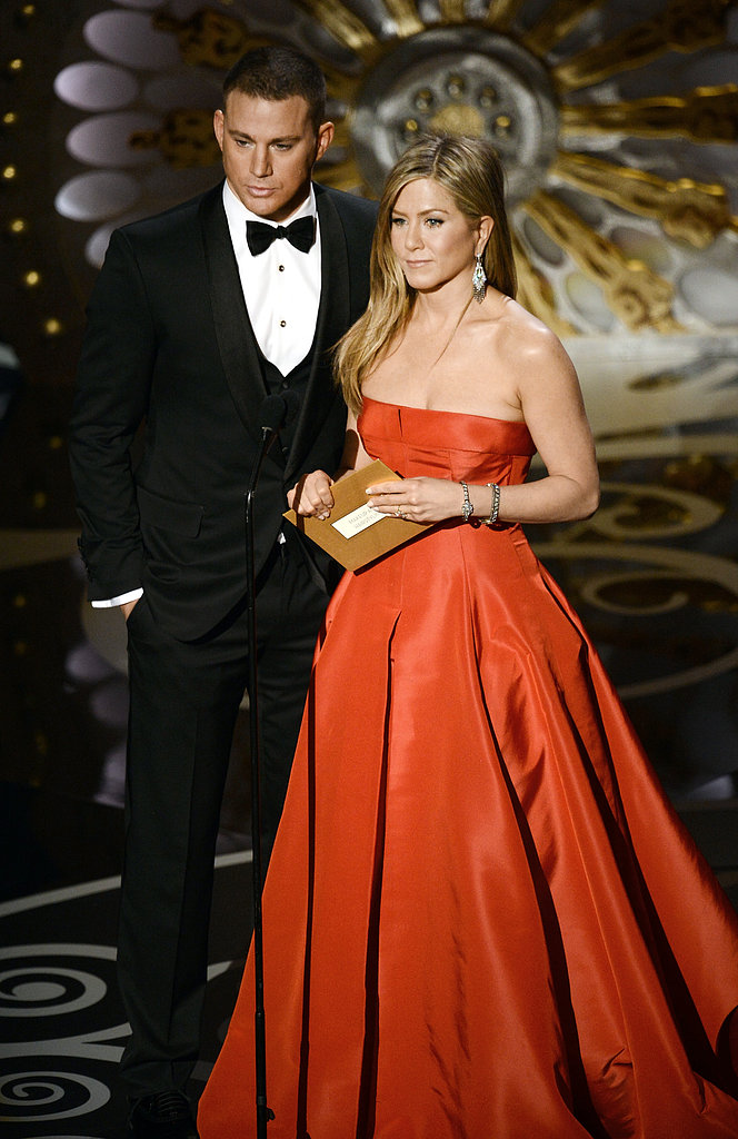 Jennifer Aniston and Channing Tatum took to the stage to present an award.