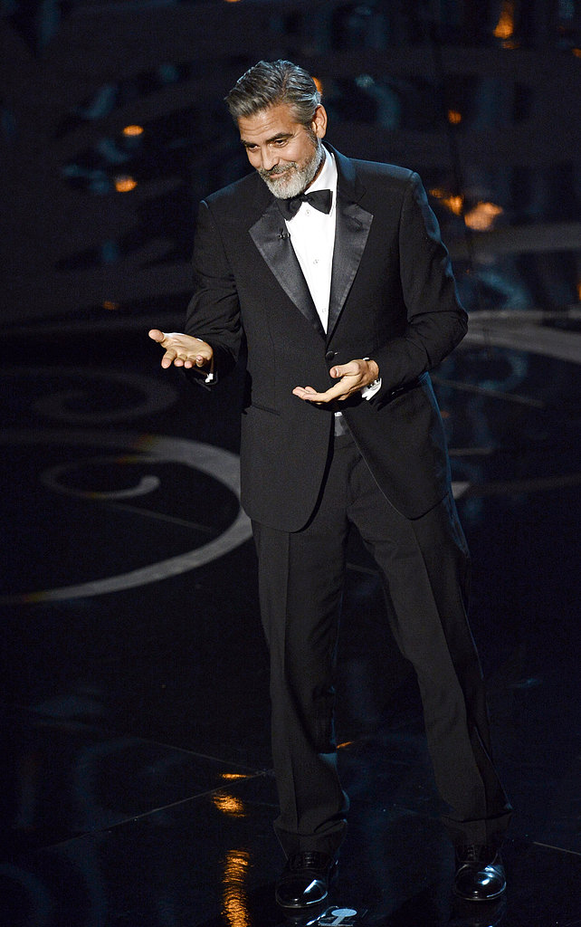 George Clooney presented at the 2013 Oscars.