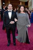 Melissa McCarthy and Ben Falcone at the 2013 Oscars.