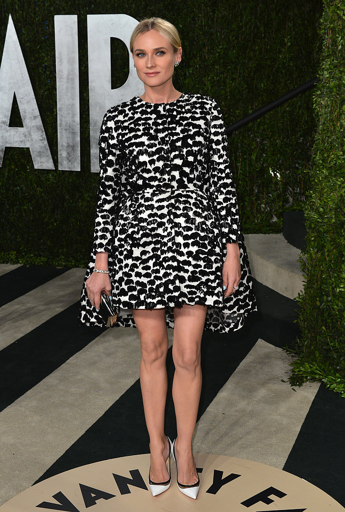 Diane Kruger arrived at the Vanity Fair Oscar party on Sunday night.