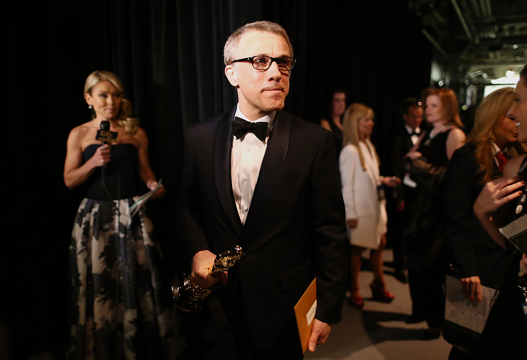 Christoph Waltz backstage at the 2013 Oscars.