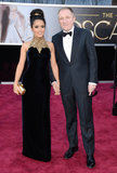 Salma Hayek and François-Henri Pinault on the red carpet at the Oscars 2013.