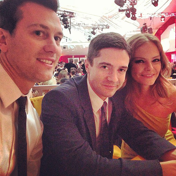 Jaime King snapped a photo of Topher Grace at the Oscars. Source: Instagram user jaime_king