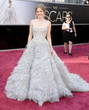 Amy Adams hit the Oscars red carpet in Oscar de la Renta.