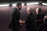 Ben Affleck and Steven Spielberg chatted.