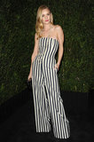 Rosie Huntington-Whiteley looked amazing in a striped jumpsuit.