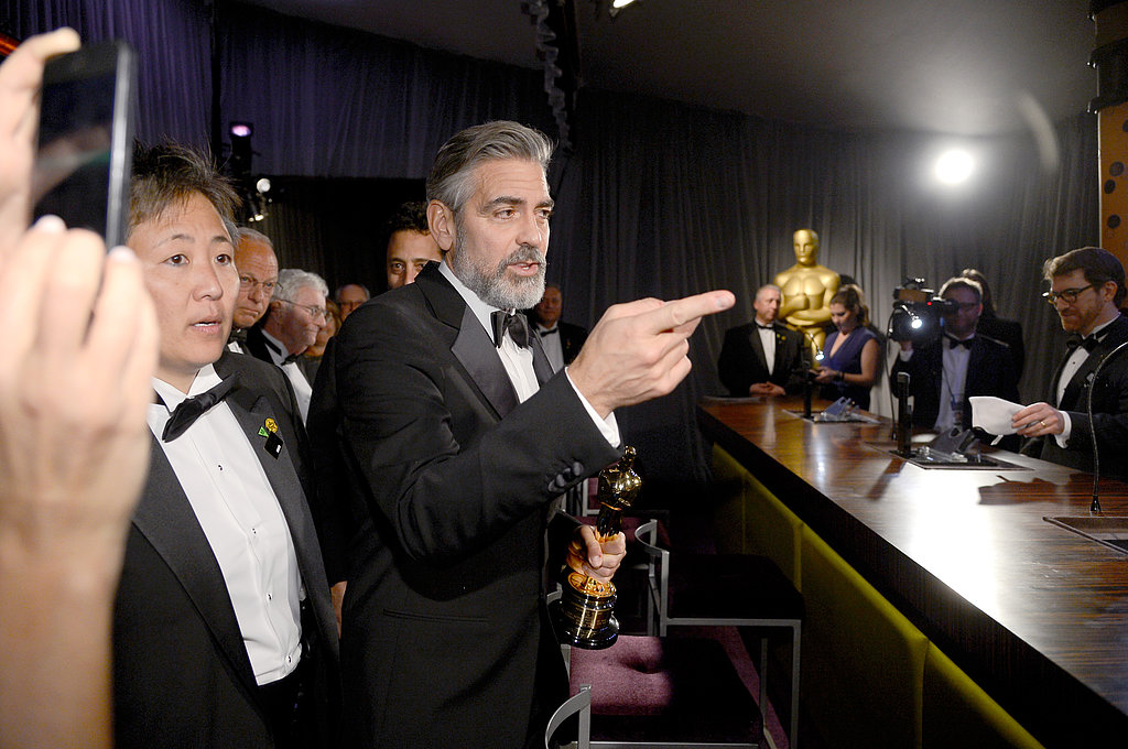 George Clooney attended the Governors Ball.