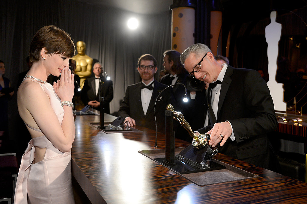 Anne Hathaway shared in the Oscar love.