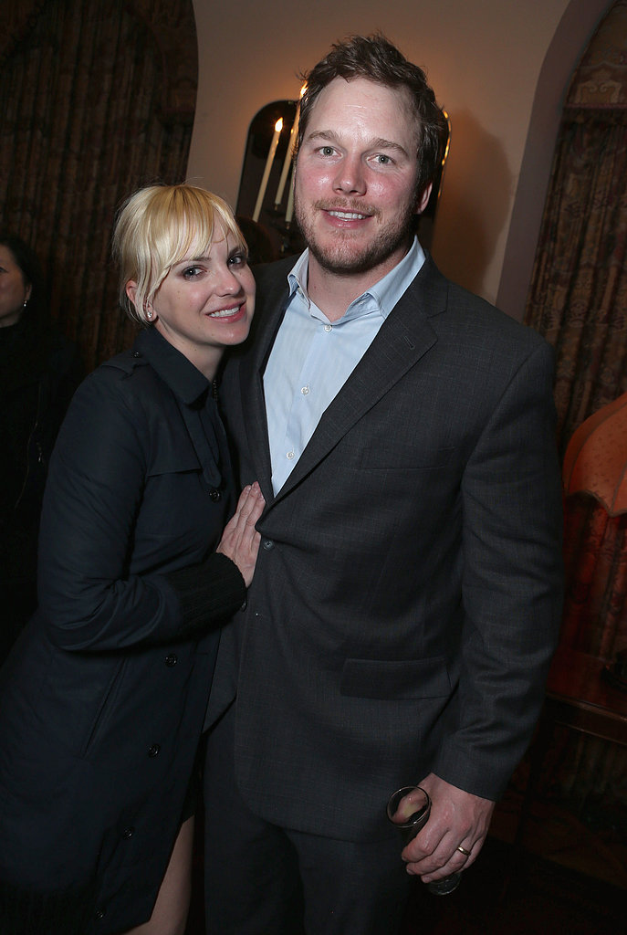 Chris Pratt cuddled up with wife Anna Faris.