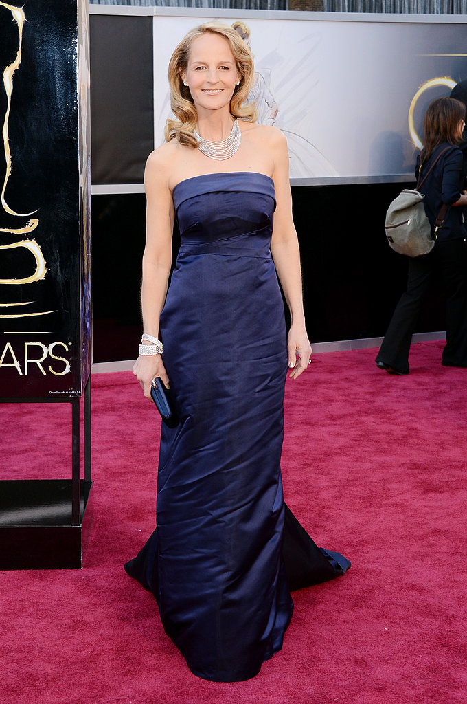 Helen Hunt wore a blue H&M gown for the Oscars.