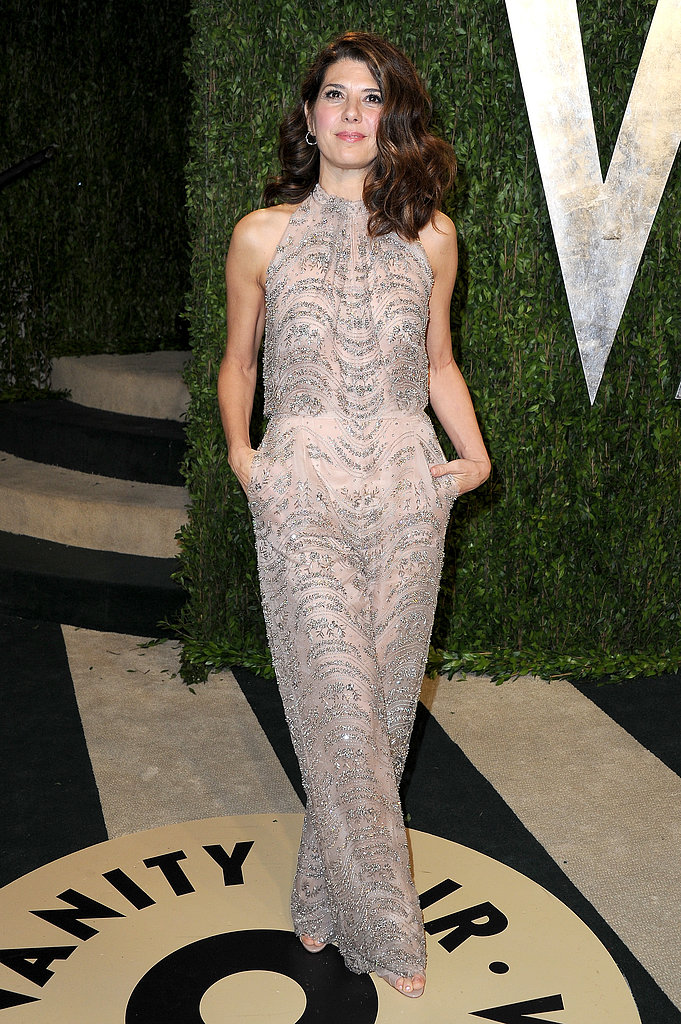 Marisa Tomei arrived at the Vanity Fair Oscar party on Sunday night.