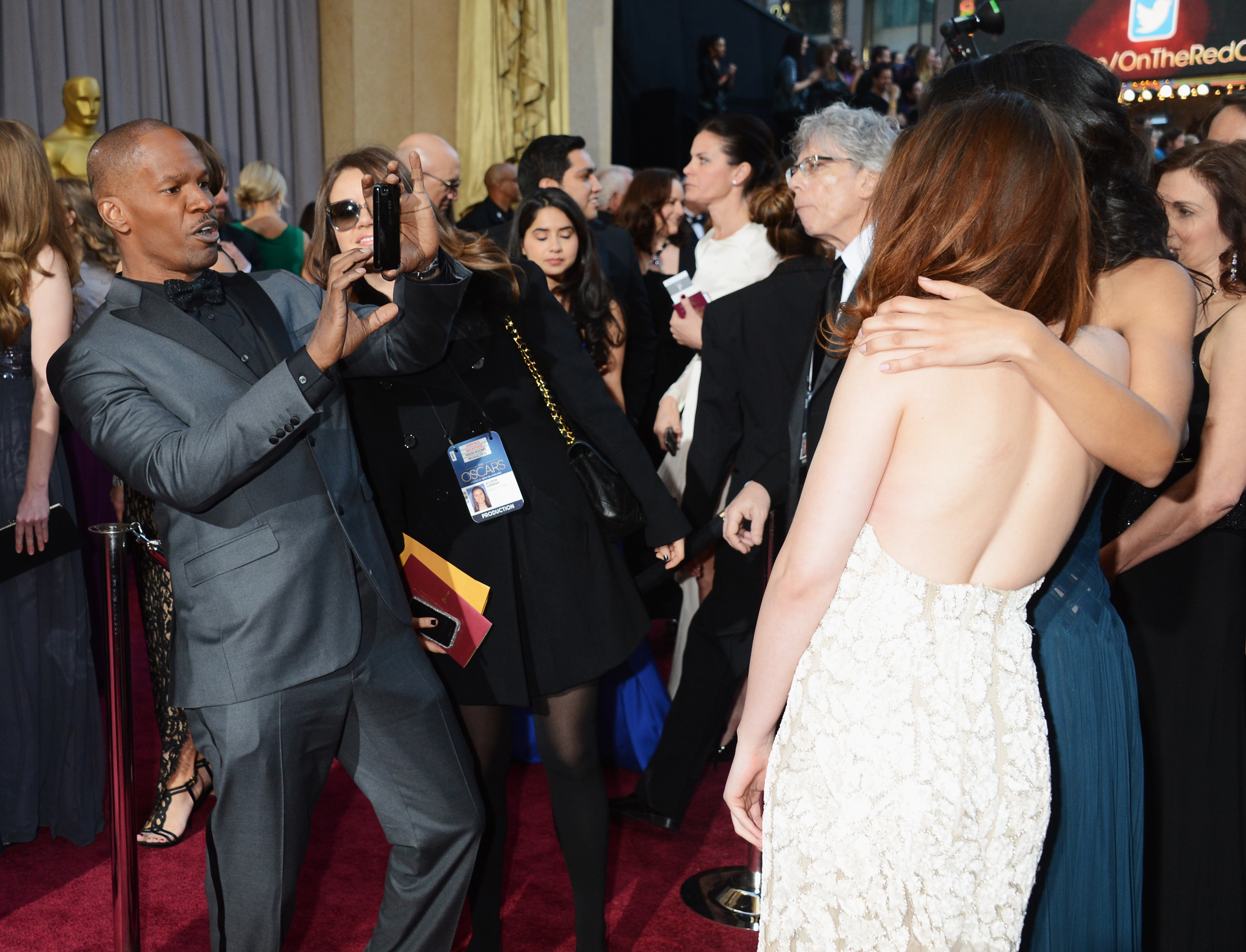 Jamie Foxx snapped a picture of his daughter, Corinne Bishop, with Kristen Stewart.
